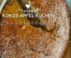 Saftiger Apfel-Kokos-Kuchen