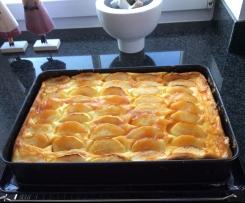 Apfel-Käsekuchen mit Hefeteig