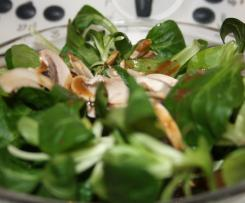 Salatdressing für Feldsalat mit Champignons