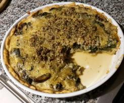 Mangold-Champignon-Quiche vegan