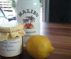Kokos Nektarinen Konfitüre mit Malibu
