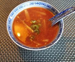 Süß sauer scharfe Suppe (Peking Suppe)