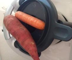 Süßkartoffel Möhren Brei