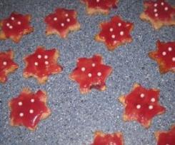 Mandelsterne mit Cranberrys