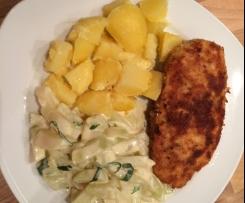 Kohlrabigemüse und Kartoffeln