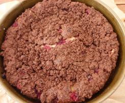 Russischer Zupfkuchen mit Himbeeren