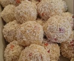 Schneebälle Erdbeer-Kokos