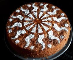 Saftiger Apfel-Marzipan-Kuchen