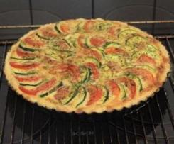 Zucchini -Tomaten -Quiche
