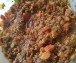 Linseneintopf mit Kürbis - vegan - vegetarisch - veggie - gesund - low fat - fitness
