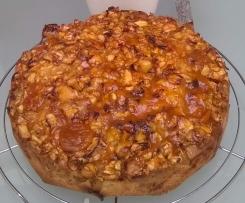 Apfelkuchen mit Aprikosenguß
