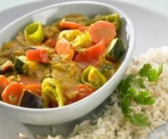Gemüsecurry mit Reis