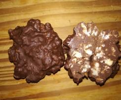 Schokolade mit Puffreis und Mandeln (Art Nippon)