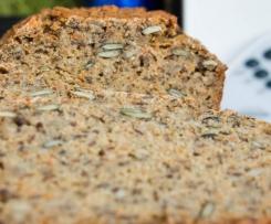 Reisbrot mit Chia-Samen / vegan / glutenfrei