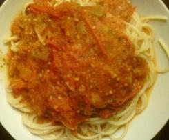 Spaghetti mit Tomaten=Basilikum-Sauce WW tauglich