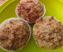 Bananenmuffins Ei- und Zuckerfrei für Kleinkinder