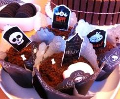 Grabmuffins - ideal zu Halloween, bluten beim Biss hinein