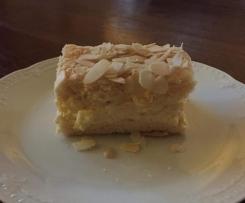 Biskuit mit Puddingfüllung