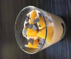 Schoko-Quark Creme mit Pfirsichen
