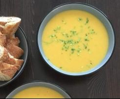 Fruchtige Pastinaken-Cremesuppe