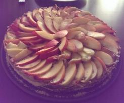 Rohkost Kuchen Pfirsichtraum, Vegan, Zuckerfrei, Glutenfrei, Laktosefrei