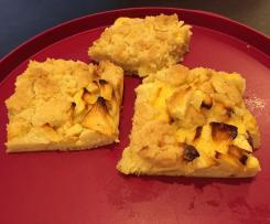 Apfelkuchen mit Quark und Streusel