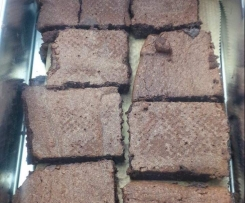 Schnelle Brownies (glutenfrei)