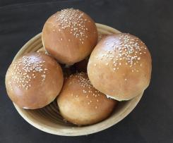 Burger Buns mit Tangzhong
