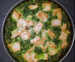 Lachs-Spinatkuchen