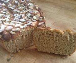 Sonnenblumen/Kürbiskern-Sauerteig Brot glutenfrei