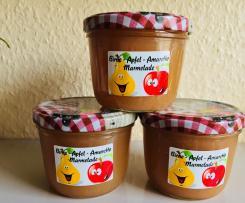 Birne - Apfel Marmelade mit Amaretto