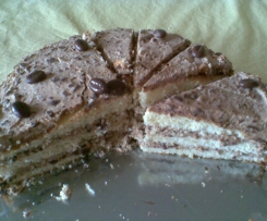 Kaffee-Stracciatella-Torte