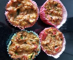 Saftige Thunfisch/Gemüse Muffin's Low Carb