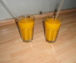Mango-Bananen-Orangen-Birnensmoothie