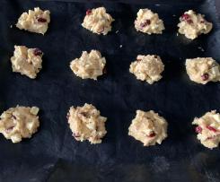 Weiße Schokolade - Cranberry - Haferflocken - Cookies