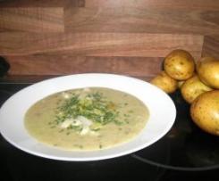 Kartoffel-Lauch-Cremesuppe mit Käse