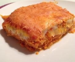 Variation von Lasagne al forno mit Kürbis