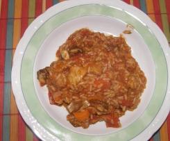 Tomaten Reisfleisch mit Gemüse (m. orig.)