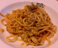Cremige Spaghetti