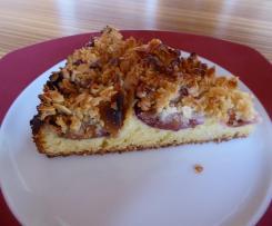 Zwetschgenkuchen mit Marzipan und Mandelguß