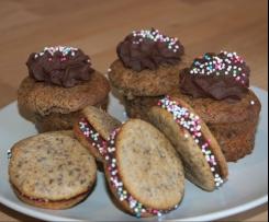 Mini-Whoopies/Cupcakes mit Schoko-Chili-Creme