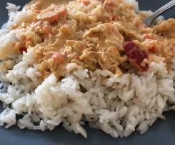 Putengeschnetzeltes Paprika/Chili