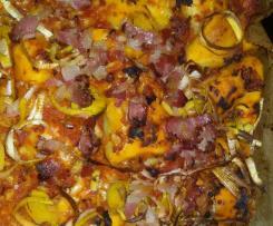 Tomaten-Mozzarella-Faltenbrot mit Speck und Lauch Alternative zu  faltigem Kräuterbrot