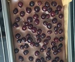 Schoko-Kirsch-Pfannkuchen vom Blech