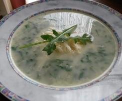 Kartoffelsuppe mit Rucola