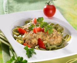 Grüne Nudeln mit Linsen-Curry