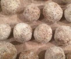 Schokoladen-Haselnuss-Schneebälle