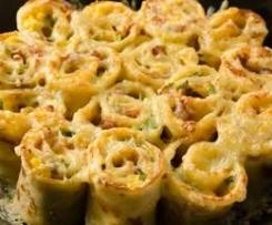 Italienische Pfannkuchenröllchen