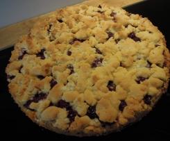 Oma's Kirschstreusel-Kuchen / Obststreusel-Kuchen / Obstboden einfach und lecker