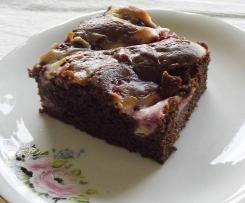 Marmorierte Brownies mit Himbeeren (sehr schokoladig)
